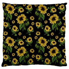 Sunflowers Pattern Large Flano Cushion Case (one Side) by Valentinaart