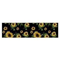 Sunflowers Pattern Satin Scarf (oblong) by Valentinaart
