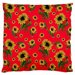Sunflowers Pattern Large Cushion Case (two Sides) by Valentinaart