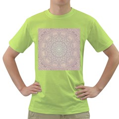 Pink Mandala art  Green T-Shirt