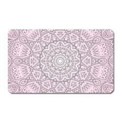 Pink Mandala Art  Magnet (rectangular) by paulaoliveiradesign