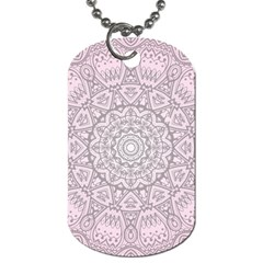 Pink Mandala Art  Dog Tag (two Sides) by paulaoliveiradesign