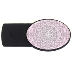 Pink Mandala Art  Usb Flash Drive Oval (4 Gb) by paulaoliveiradesign