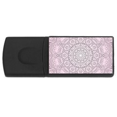 Pink Mandala Art  Rectangular Usb Flash Drive by paulaoliveiradesign
