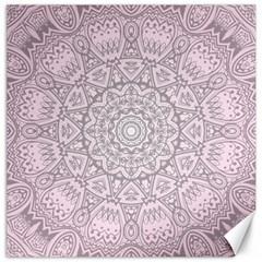Pink Mandala art  Canvas 16  x 16