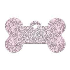 Pink Mandala art  Dog Tag Bone (One Side)