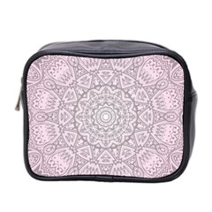 Pink Mandala art  Mini Toiletries Bag 2-Side