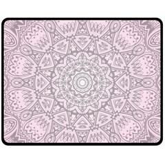 Pink Mandala art  Fleece Blanket (Medium)
