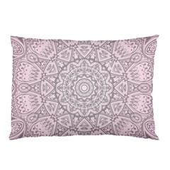 Pink Mandala Art  Pillow Case (two Sides) by paulaoliveiradesign