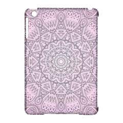 Pink Mandala art  Apple iPad Mini Hardshell Case (Compatible with Smart Cover)