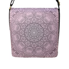 Pink Mandala Art  Flap Messenger Bag (l)  by paulaoliveiradesign