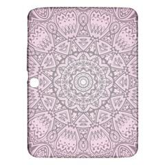 Pink Mandala art  Samsung Galaxy Tab 3 (10.1 ) P5200 Hardshell Case