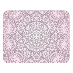 Pink Mandala Art  Double Sided Flano Blanket (large)  by paulaoliveiradesign