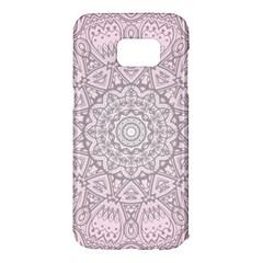Pink Mandala art  Samsung Galaxy S7 Edge Hardshell Case