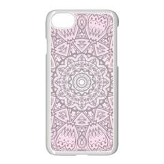 Pink Mandala art  Apple iPhone 7 Seamless Case (White)