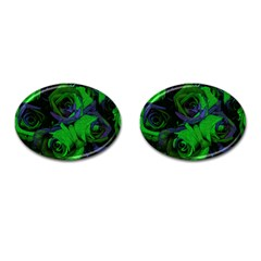 Roses Vi Cufflinks (oval) by markiart