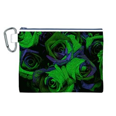 Roses Vi Canvas Cosmetic Bag (l) by markiart
