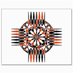 Geometric Celtic Cross Canvas 8  X 10  by linceazul