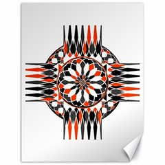 Geometric Celtic Cross Canvas 18  X 24   by linceazul