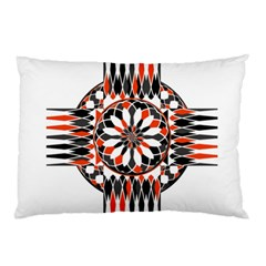Geometric Celtic Cross Pillow Case by linceazul
