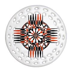 Geometric Celtic Cross Ornament (round Filigree) by linceazul