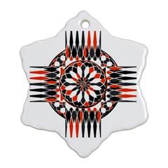 Geometric Celtic Cross Ornament (snowflake) by linceazul