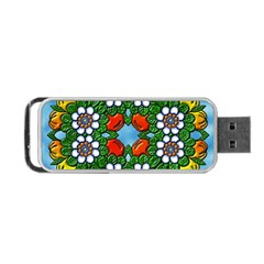 Cute Floral Mandala  Portable Usb Flash (one Side) by paulaoliveiradesign