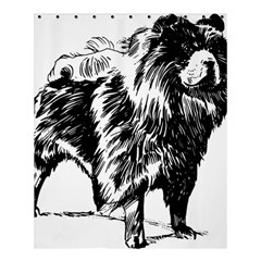 Chow Chow Drawing Shower Curtain 60  X 72  (medium)