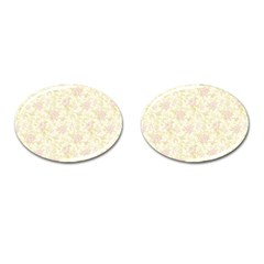 Floral Paper Pink Girly Pattern Cufflinks (oval) by paulaoliveiradesign