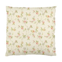 Floral Paper Pink Girly Cute Pattern  Standard Cushion Case (one Side) by paulaoliveiradesign