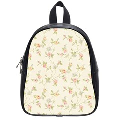 Floral Paper Pink Girly Cute Pattern  School Bag (small)