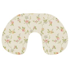 Floral Paper Pink Girly Cute Pattern  Travel Neck Pillows by paulaoliveiradesign