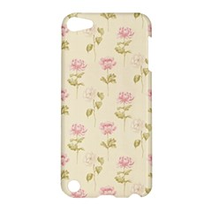 Floral Paper Illustration Girly Pink Pattern Apple Ipod Touch 5 Hardshell Case by paulaoliveiradesign