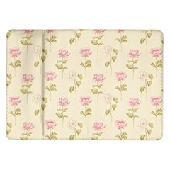 Floral Paper Illustration Girly Pink Pattern Samsung Galaxy Tab 10 1  P7500 Flip Case by paulaoliveiradesign