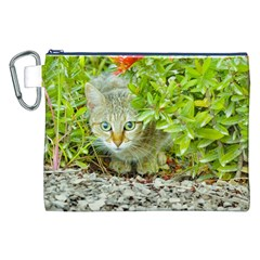 Hidden Domestic Cat With Alert Expression Canvas Cosmetic Bag (xxl) by dflcprints