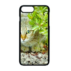 Hidden Domestic Cat With Alert Expression Apple Iphone 7 Plus Seamless Case (black) by dflcprints