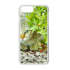 Hidden Domestic Cat With Alert Expression Apple Iphone 7 Plus White Seamless Case by dflcprints