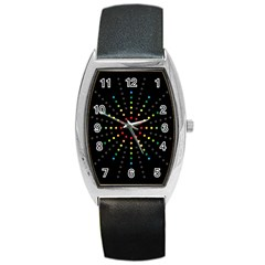 Fireworks Tonneau Leather Watch