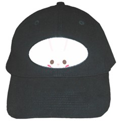Rabbit Cute Animal White Black Cap