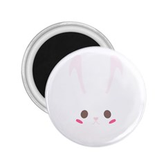 Rabbit Cute Animal White 2 25  Magnets by Nexatart