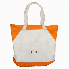 Rabbit Cute Animal White Accent Tote Bag