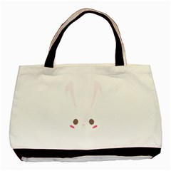 Rabbit Cute Animal White Basic Tote Bag (two Sides) by Nexatart