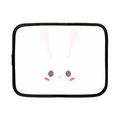Rabbit Cute Animal White Netbook Case (small)  by Nexatart