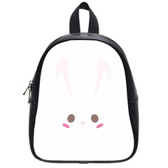 Rabbit Cute Animal White School Bag (small) by Nexatart