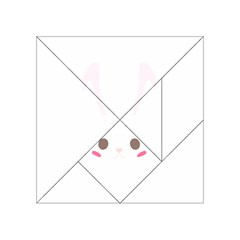 Rabbit Cute Animal White Acrylic Tangram Puzzle (4  X 4 )