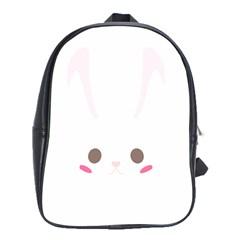 Rabbit Cute Animal White School Bag (xl)
