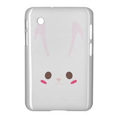 Rabbit Cute Animal White Samsung Galaxy Tab 2 (7 ) P3100 Hardshell Case  by Nexatart