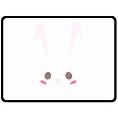 Rabbit Cute Animal White Double Sided Fleece Blanket (large)  by Nexatart