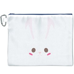 Rabbit Cute Animal White Canvas Cosmetic Bag (xxxl) by Nexatart