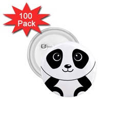 Bear Panda Bear Panda Animals 1 75  Buttons (100 Pack)  by Nexatart